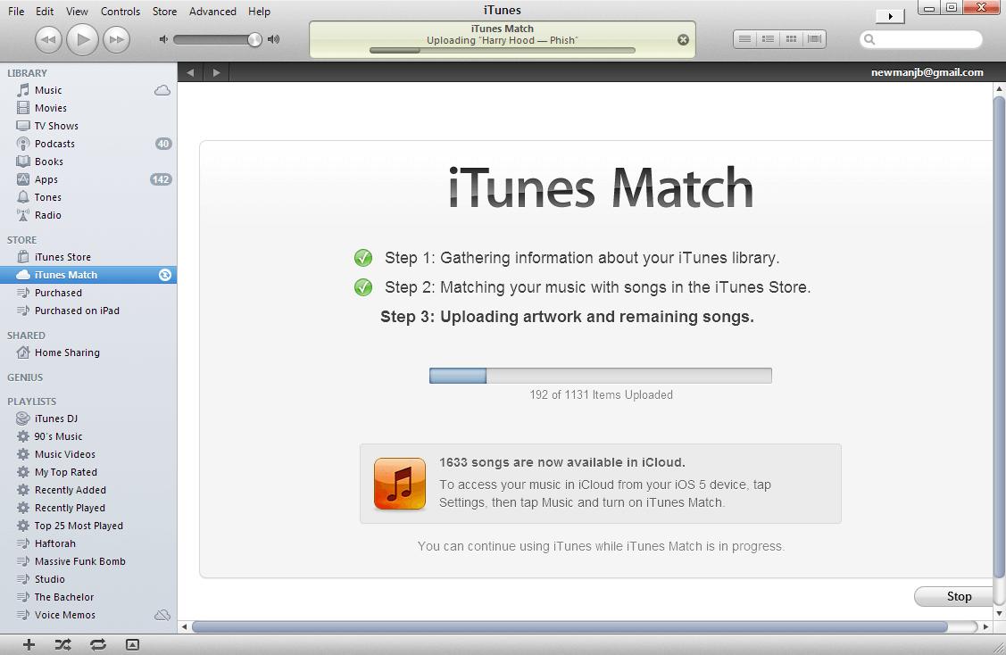 se comenzó a hablar de la posibilidad del aumento del límite de las bibliotecas de iTunes Match
