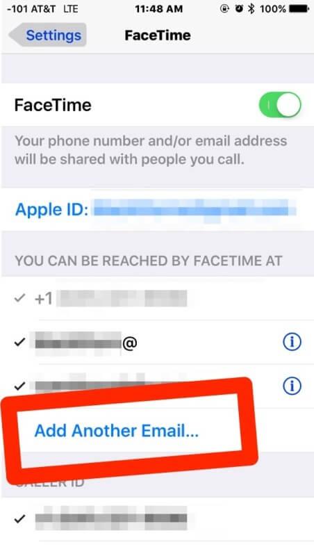 1. Cómo agregar una dirección de correo adicional a FaceTime desde iOS