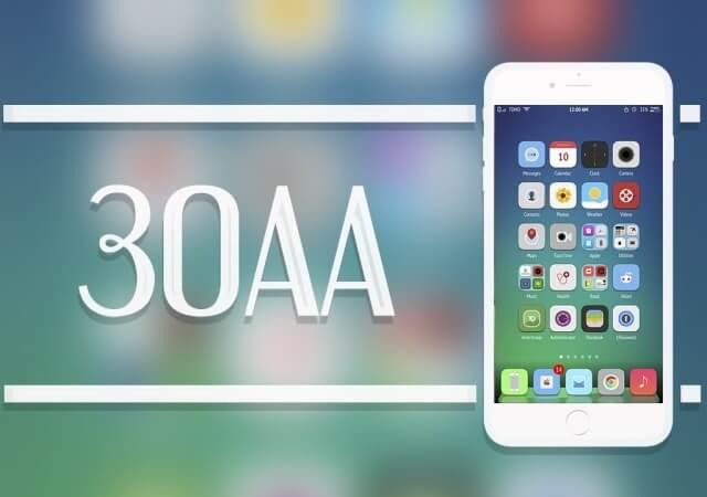 30AA, un tema disponible en el portal de Cydia