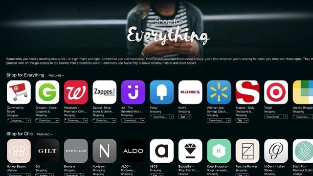 """Apple añade """"Shopping"""", una nueva categoría de compras dirigida al App Store"""