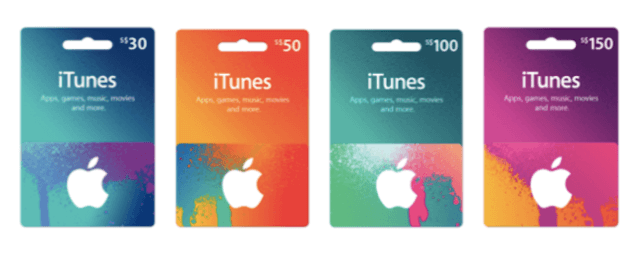 Apple iTunes tarjetas de regalo