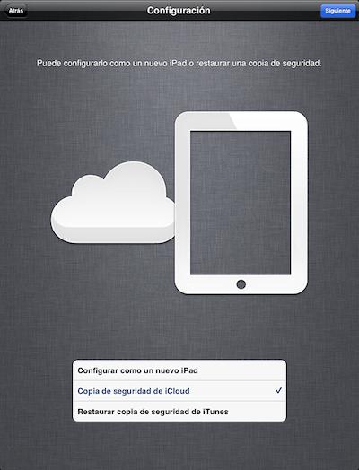 Back Up de iCloud pudiera causar los problemas