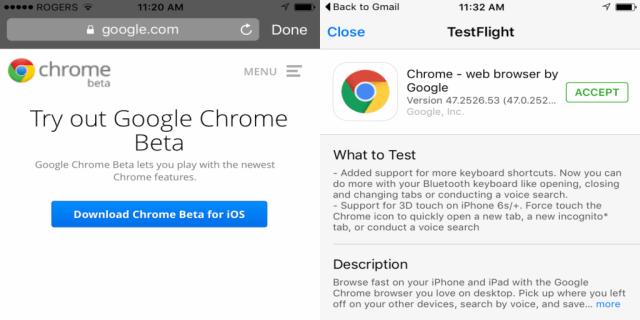 Descargar el Beta oara iOS