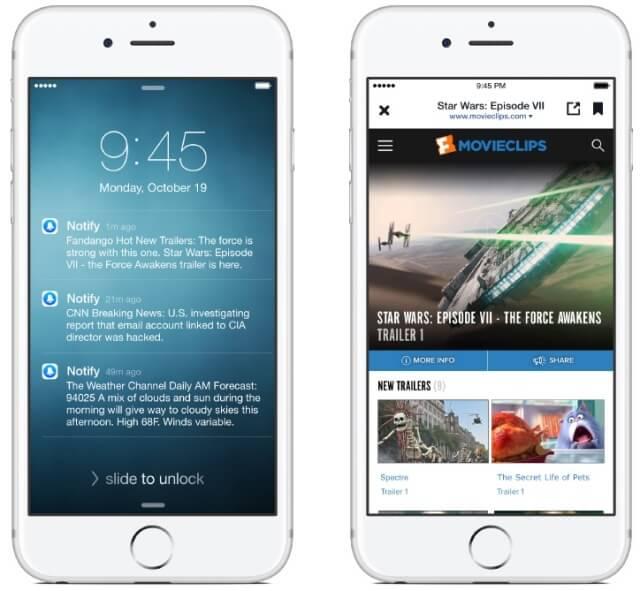 Facebook acaba de lanzar una nueva app para el iPhone llamada 'Notify'