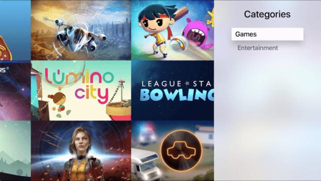 Nuevas categorías han sido añadidas a la tienda del Apple TV