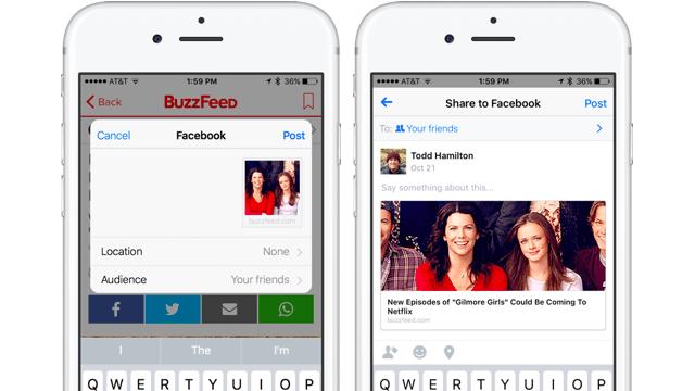 Nuevo diseño de la aplicación Facebook para iPhone