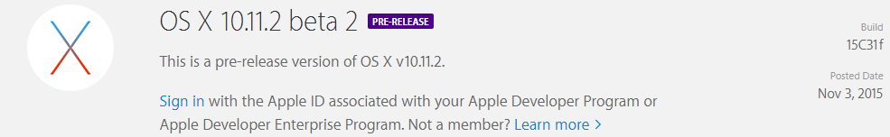 OS X 10.11.2 ya disponible
