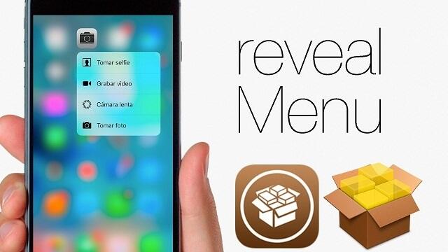 RevealMenu Simula la función 3D Touch en los dispositivos más antiguos con iOS 9