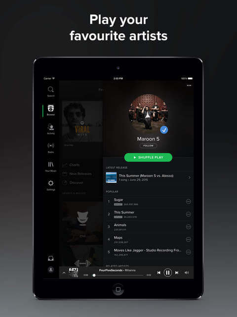 Spotify iPad Pro