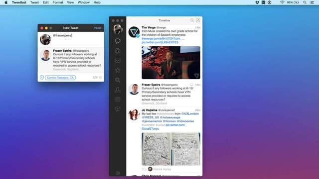Tweetbot acaba de obtener soporte para pantalla completa y pantalla dividida