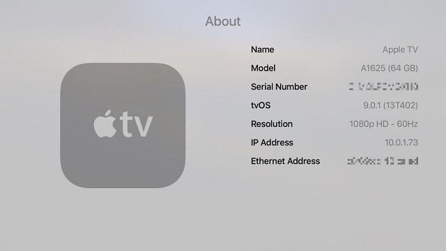 Update del Apple TV