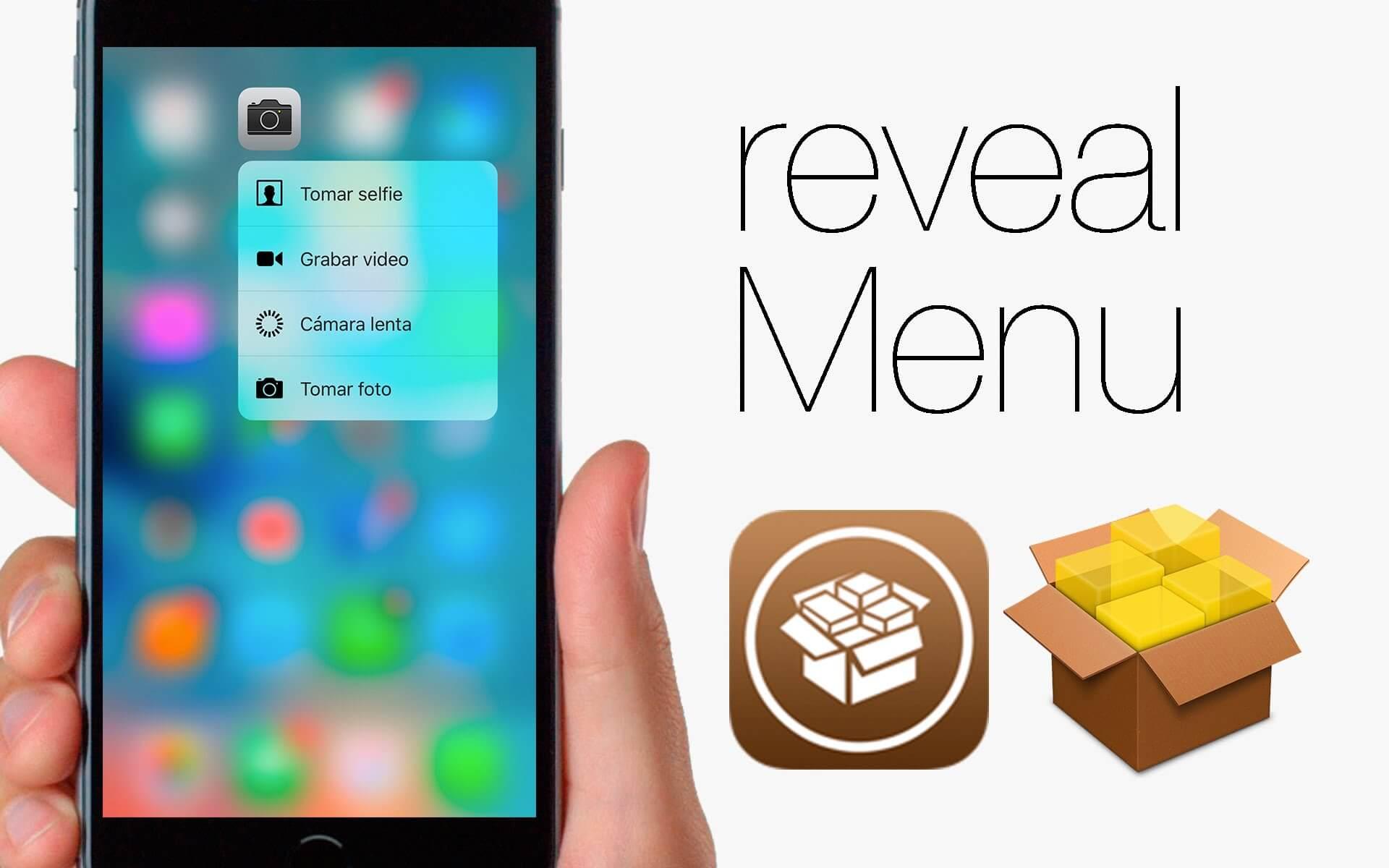 revealMenu: 3D Touch en dispositivos anteriores
