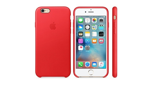 Apple revela el (PRODUCT) RED Case hecho de cuero para el iPhone 6s
