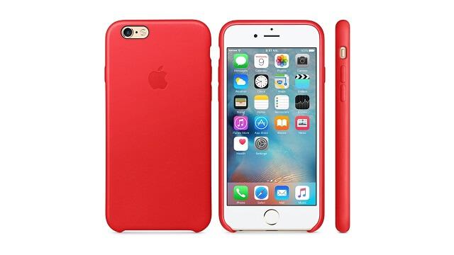 Apple revela el (PRODUCT) RED Case hecho de cuero para el iPhone 6s