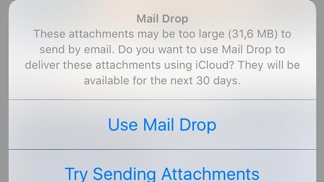 Cómo enviar archivos pesados con Mail Drop en iOS - copia