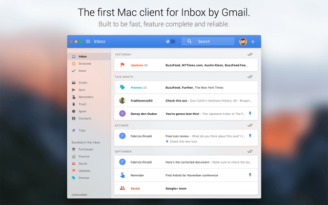 Cliente Gmail en Mac