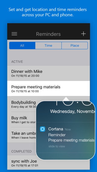 Cortana ya se encuentra disponible para iOS 1
