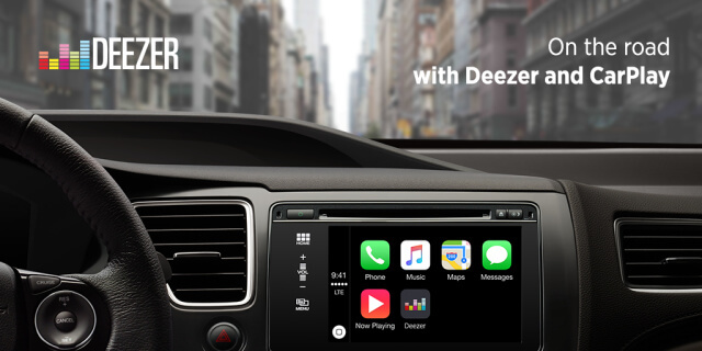 Deezer anuncia un soporte CarPlay para Apple