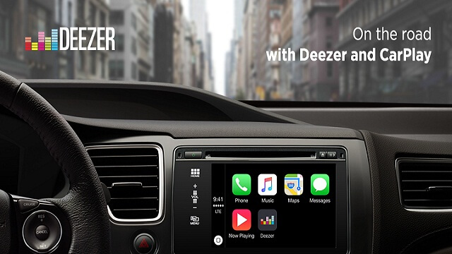 Deezer  soporte CarPlay para Apple