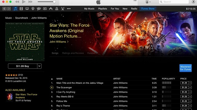 El soundtack de Star Wars The Force Awakens ya se encuentra disponible en iTunes y Apple Music - copia