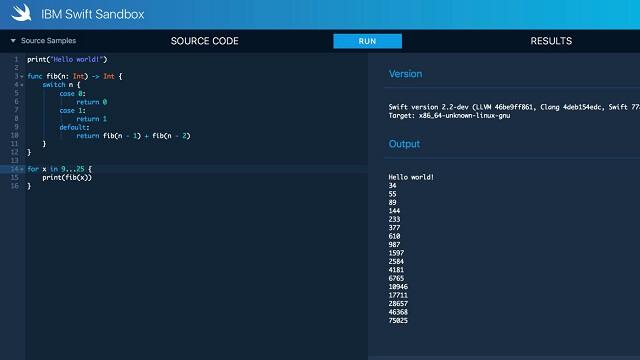 Escritura de código Swift dentro de tu navegador web2