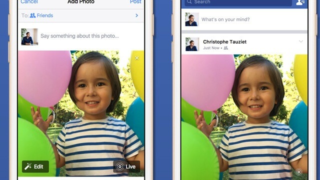 Facebook empieza a incorporar el soporte para Live Photos - copia