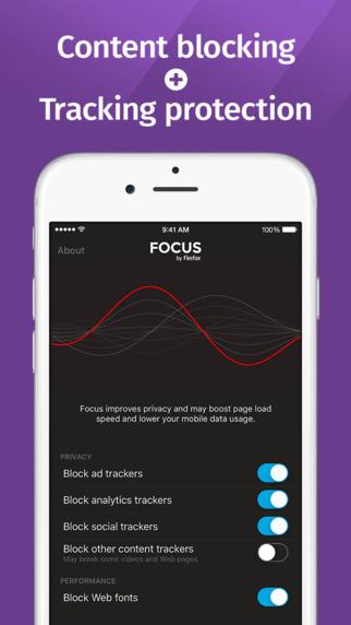 Focus bloqueador de contenido para Safari en iOS 9