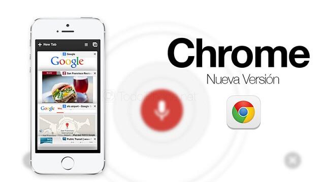 Google actualiza su Web Browser Chrome para que pueda usar 3D Touch