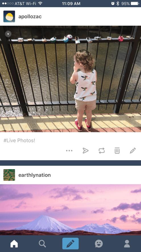 Tumblr se actualiza para soportar 3D Touch y Live Photos