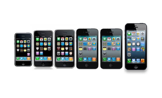 Modelos de iPhone en orden