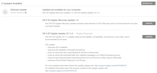 OS X El Capitan 10.11.2 ya disponible en la Mac App Store 2