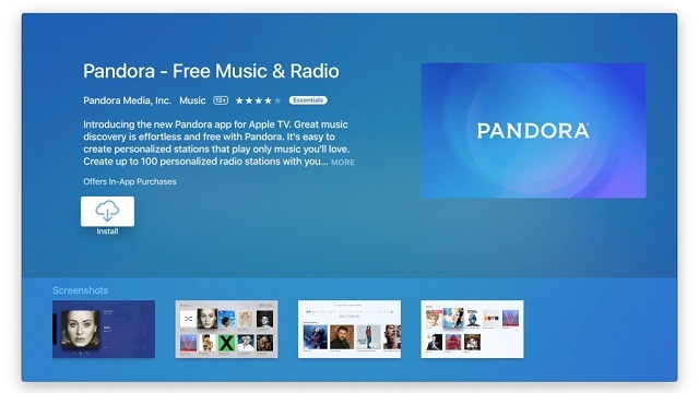 Pandora Radio ya se encuentra disponible en Apple TV 3
