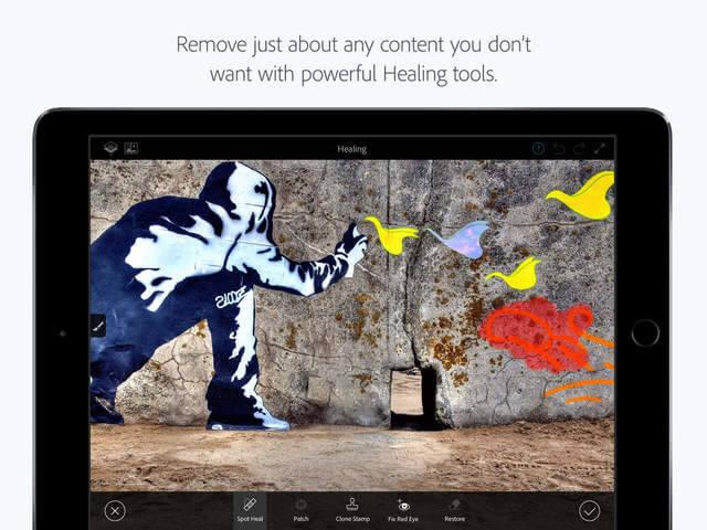Photoshop Fix ahora cuenta con soporte de Apple Pencil en el iPad Pro en su nueva actualización 2