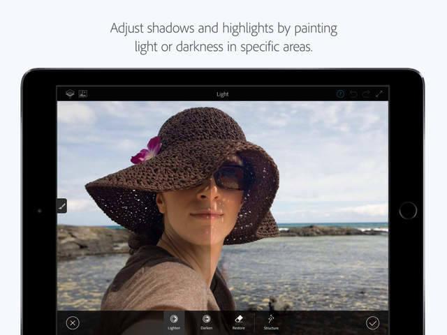 Photoshop Fix ahora cuenta con soporte de Apple Pencil en el iPad Pro en su nueva actualización  3