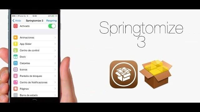Springtomize 3 cambia el diseño de la interfaz en iOS
