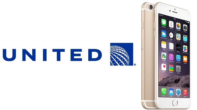 United Airlines y iPhone 6 Plus