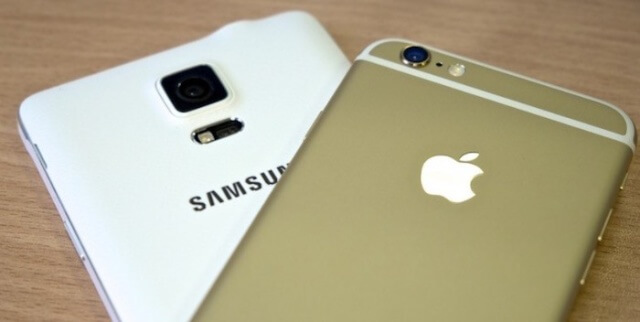 iPhone y Galaxy