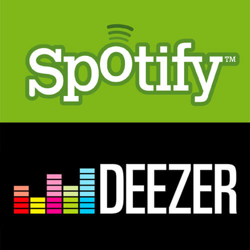 servicios streaming como Spotify y Deezer