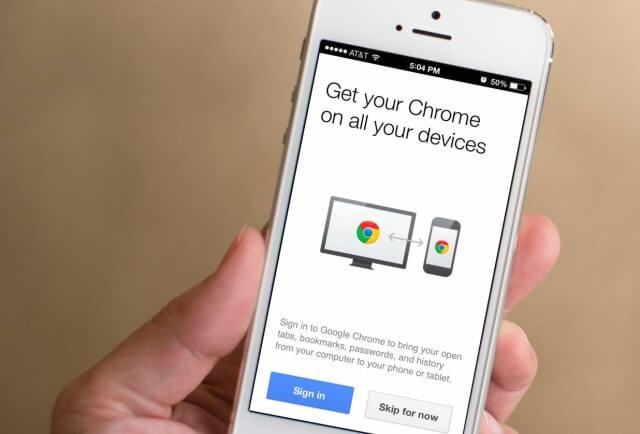 un recorrido rápido en el navegador Google Chrome en su dispositivo iPhone está en sus manos