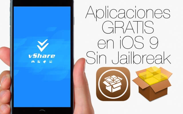 vShare: Aplicaciones gratis en iOS 9 sin Jailbreak