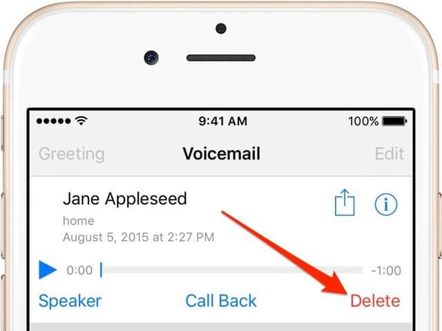 1. Eliminar el mensaje de voz
