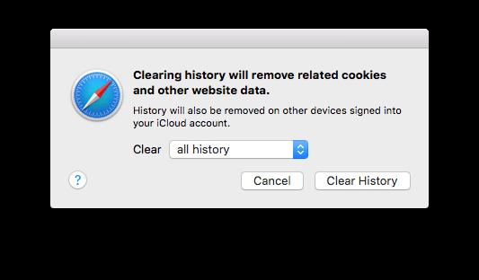 2. Eliminar historial en OS X