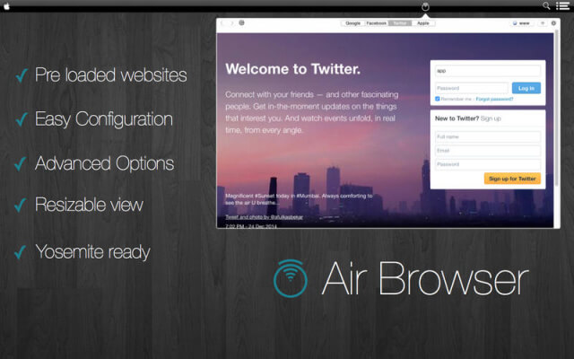 Air Browser app