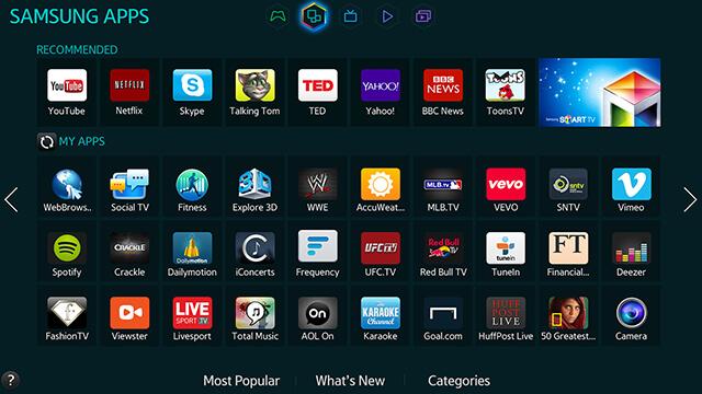 Aplicaciones de Samsung