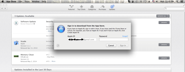 Apple ID Mac App Store