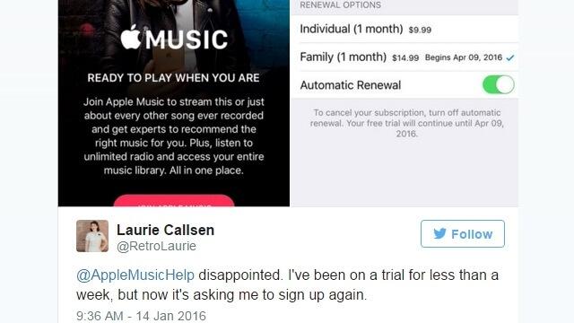 Apple Music fallos