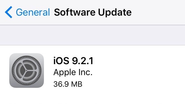 Apple lanza iOS 9.2.1 para iPhone, iPad y iPod Touch - copia