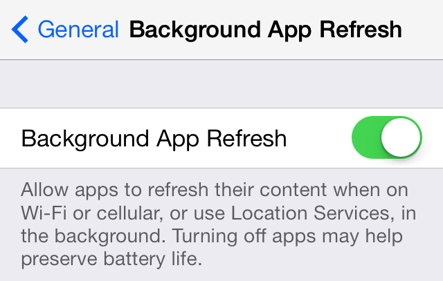 Cómo Detener temporalmente el Background App Refresh en las aplicaciones