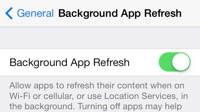 Cómo Detener temporalmente el Background App Refresh en las aplicaciones - copia
