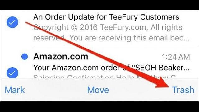 Cómo eliminar mensajes de Correo Electrónico en tu iPhone o iPad